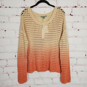 GOOD LUCK GEM Ombre Open Stitch Sweater M
